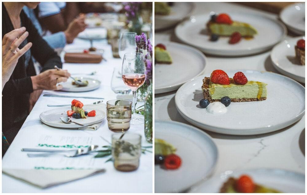 Supper club dessert - key lime tart